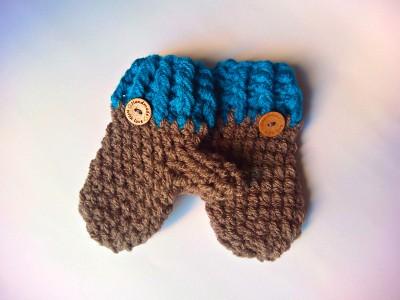 Χειροποίητο set σκούφος Κουκουβάγια με γάντια
