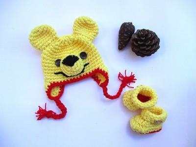 """Χειροποίητο πλεκτό σετ """"Winnie the pooh"""""""