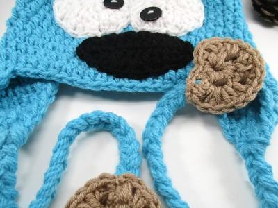 Χειροποίητος σκούφος Cookie Monster