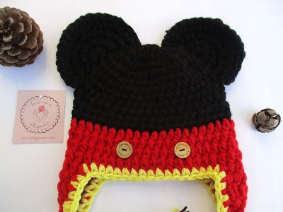 """Χειροποίητο σκουφάκι """"Mickey Mouse"""""""