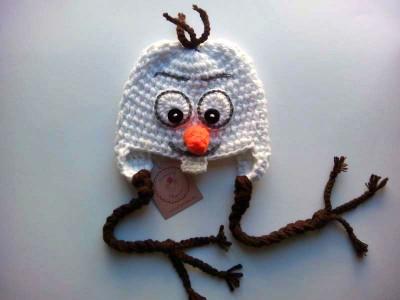 """Χειροποίητος σκούφος """"Olaf"""" - Frozen"""