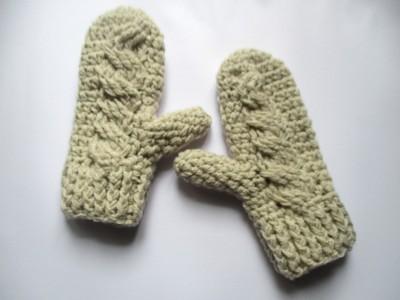 """Χειροποίητα πλεκτά γάντια """"Larien"""""""