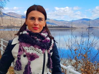 Γυναικείο πλεκτό σάλι Oriana