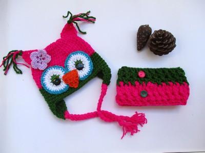 Πλεκτό σετ για κορίτσια Κουκουβάγια Pink Owl