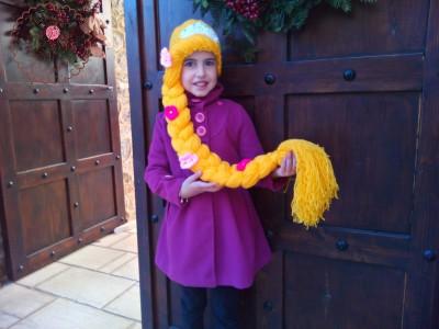 Πλεκτό σκουφάκι για κορίτσια Rapunzel
